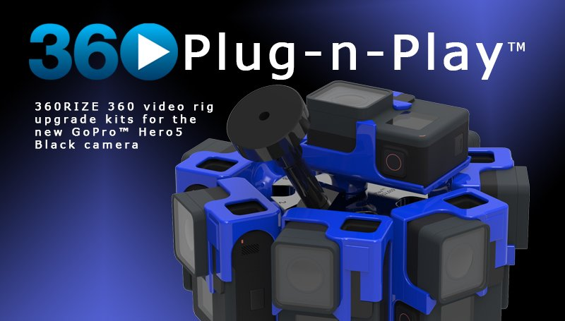 Kit para actualizar las monturas v2 de 360Rize a GoPro™ Hero5 Black , gratis comprando tu montura v2 ante del 2 de enero.